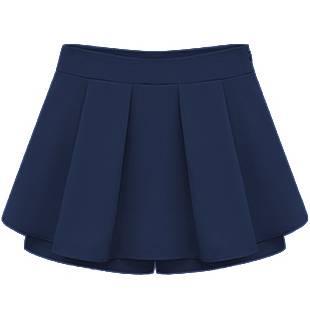 Women's Wrap Mini Skort Skirt Short Culottes Jersey Plain Pleated Flared PP005