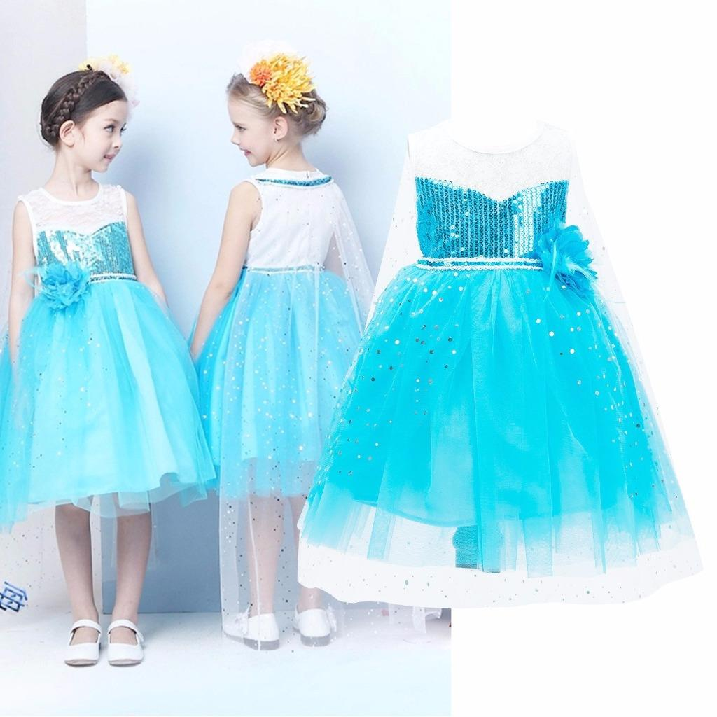 Details about UK Frozen Princess Queen Elsa Cosplay Costume Party Fancy Dress 3-8 Years CD015