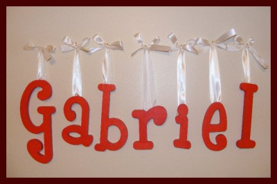 Baby Letters  Nursery on 10  Personalized Wooden Nursery Letters Wall Decor Baby   Ebay