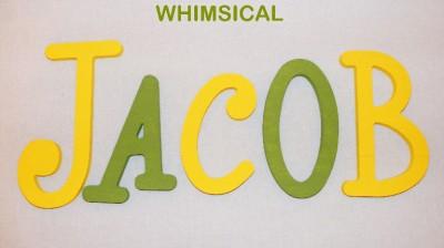 Baby Letters  Nursery on Custom Painted Wooden Letters Nursery Wall Decor Baby   Ebay