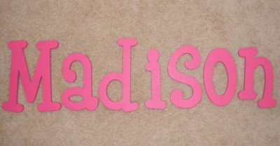 Baby Letters  Nursery on 10  Personalized Wooden Wall Letters Baby Nursery Wood   Ebay