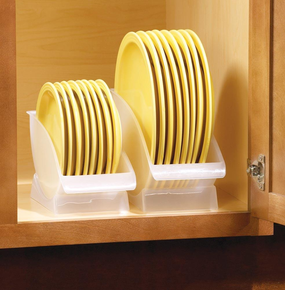 2 Pc Set Of Space Saving Plate Storage Cradles Ebay