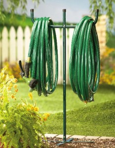 metal t stand garden hose holder rack stake ebay