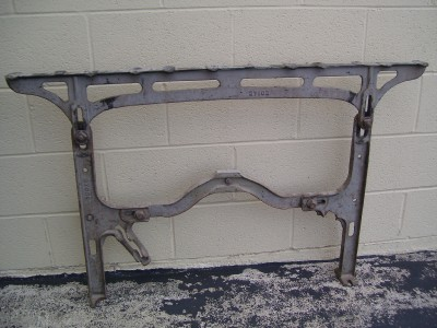 INDUSTRIAL MACHINE AGE CAST IRON TABLE LEGS ~ PAIR
