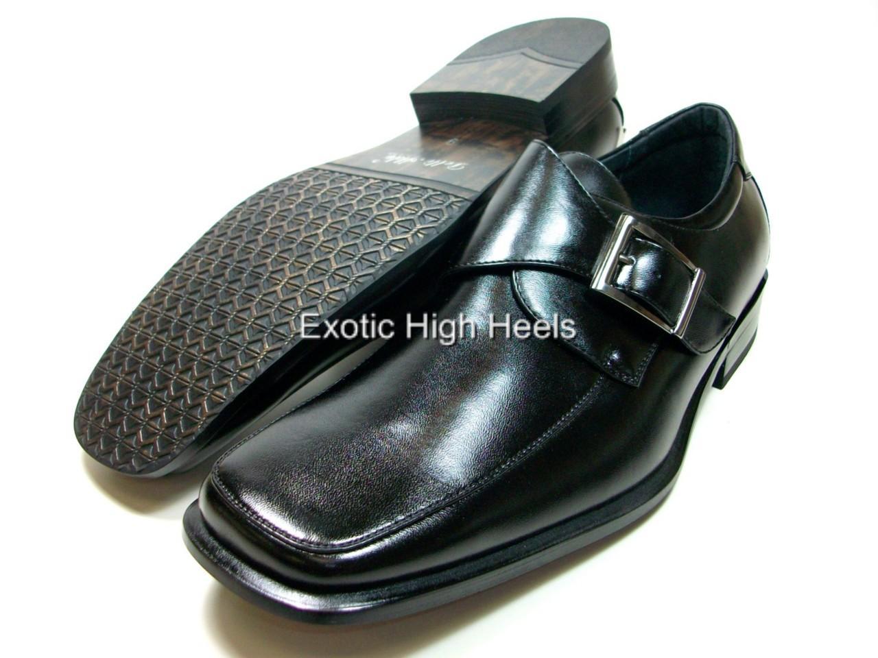 mens black d aldo dress casual work buckle shoes loafer ebay
