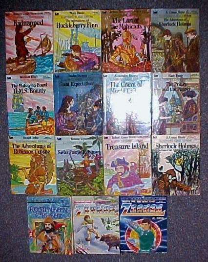 Lot of 15 Illustrated Classics Heidi Frankenstein Little Women Dracula Red Badg