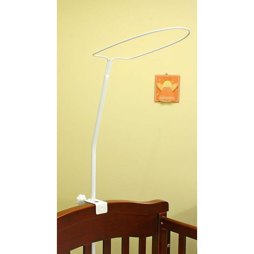 Crown baby canopy drape mosquito net stand large 485 for Drape stand for crib