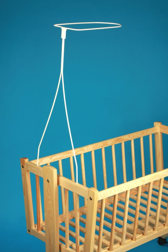 Universal Canopy Drape Holder Rod Pole Bar Fits Baby Cot Bed
