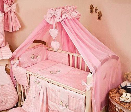 Luxury-10-Piece-Baby-Cot-Bedding-Set-Cotbed-  sc 1 st  eBay & Luxury 10 Piece Baby Cot Bedding Set Cotbed Nursery Canopy Net ...