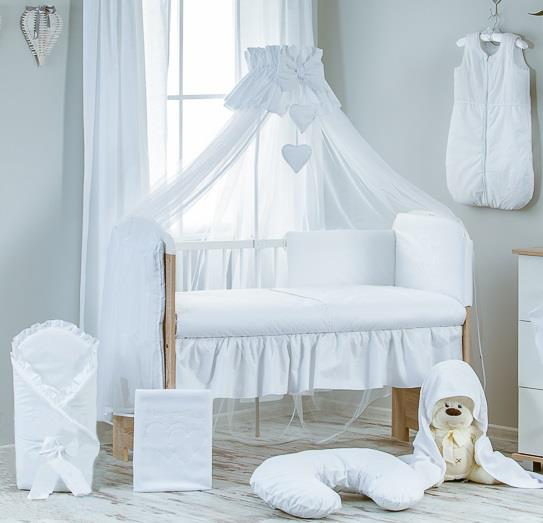 Luxury-10-Piece-Baby-Cot-Bedding-Set-Cotbed- : baby cot net canopy - memphite.com
