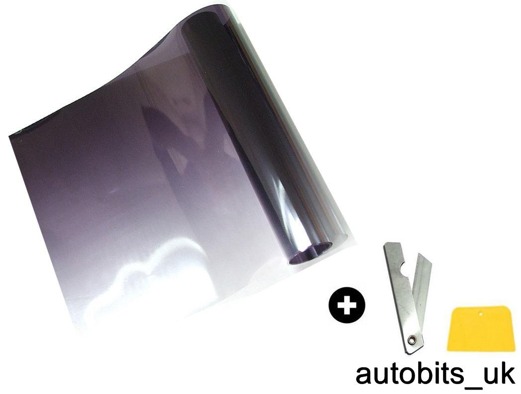 black to clear fade windscreen sun shade visor film tint. Black Bedroom Furniture Sets. Home Design Ideas
