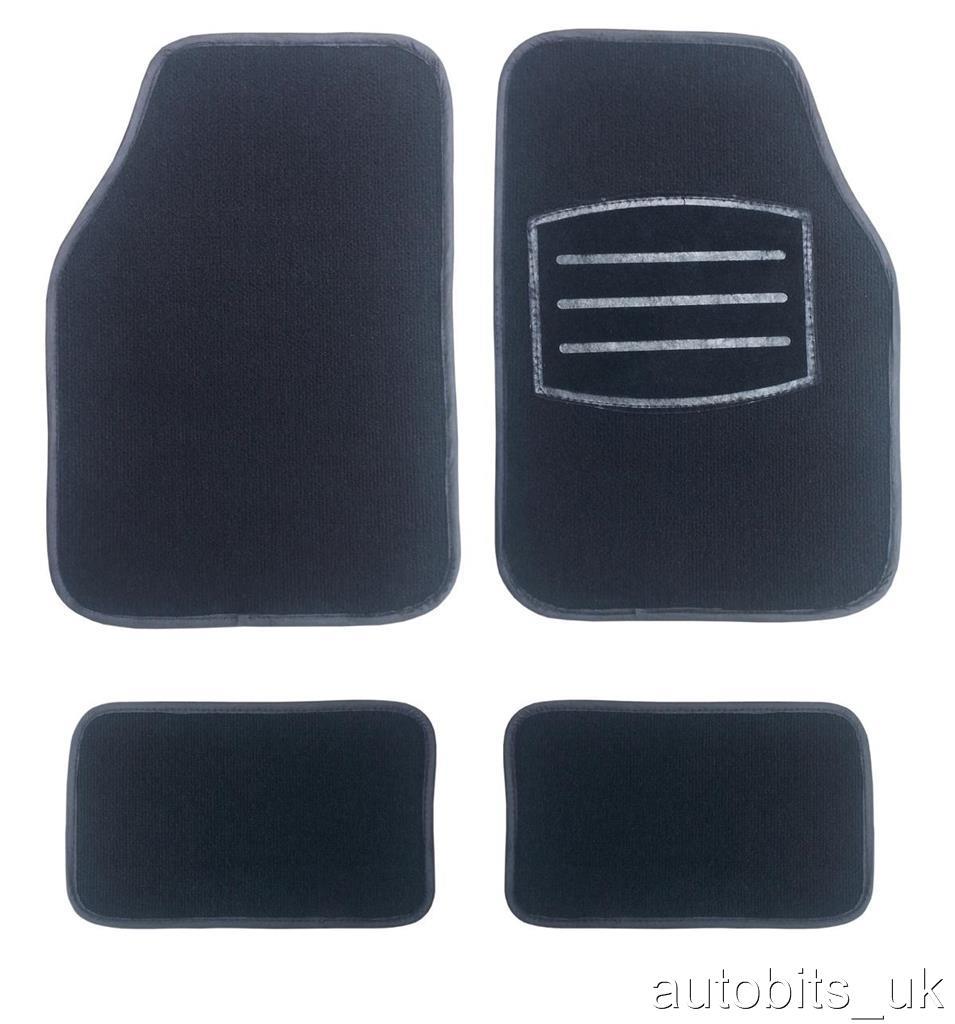 Black Carpet Non Slip Grip Car Mat Mats Set For Peugeot