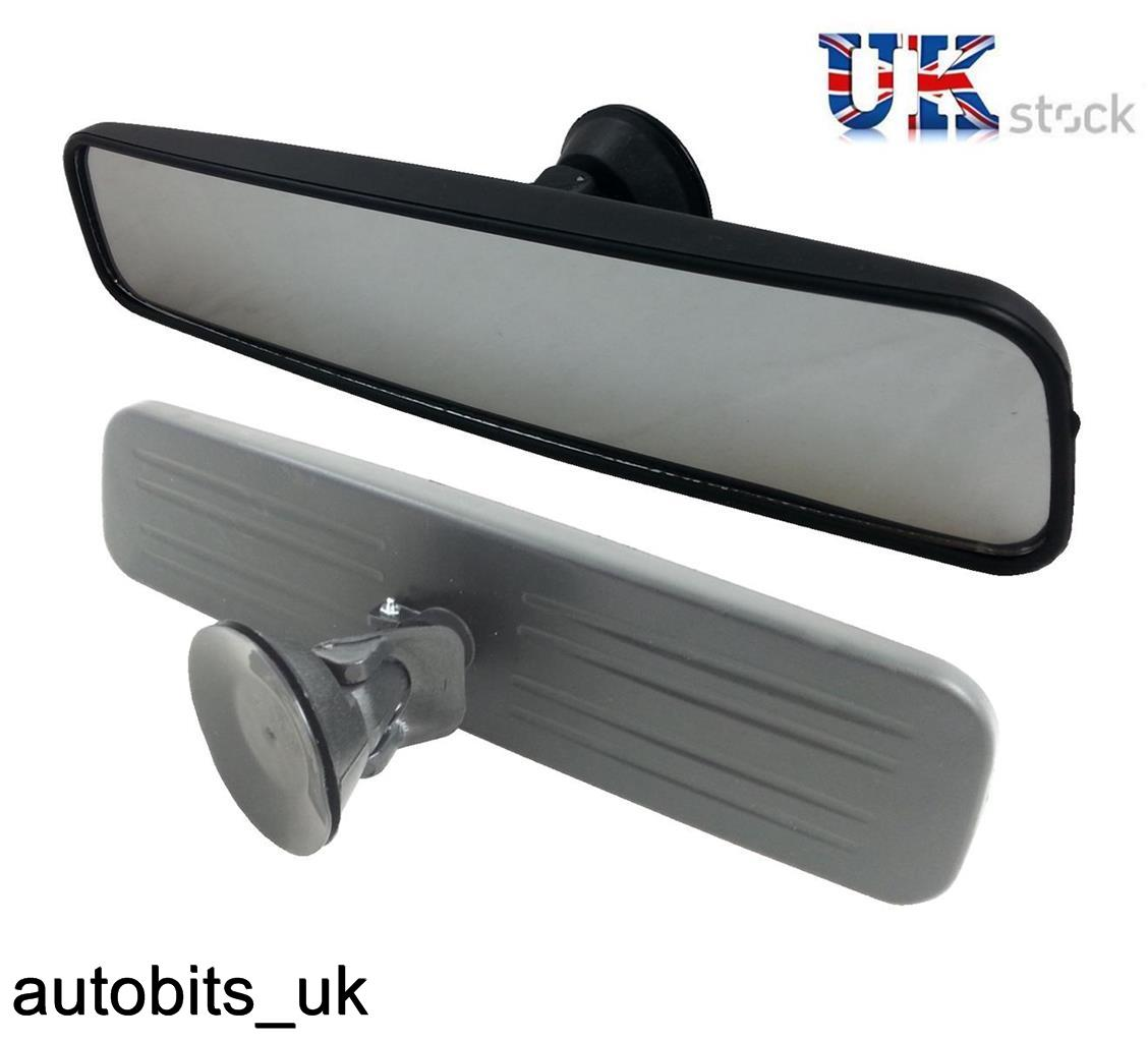 car wide interior rear view mirror suction cup van bus auto 29cm universal fit ebay. Black Bedroom Furniture Sets. Home Design Ideas