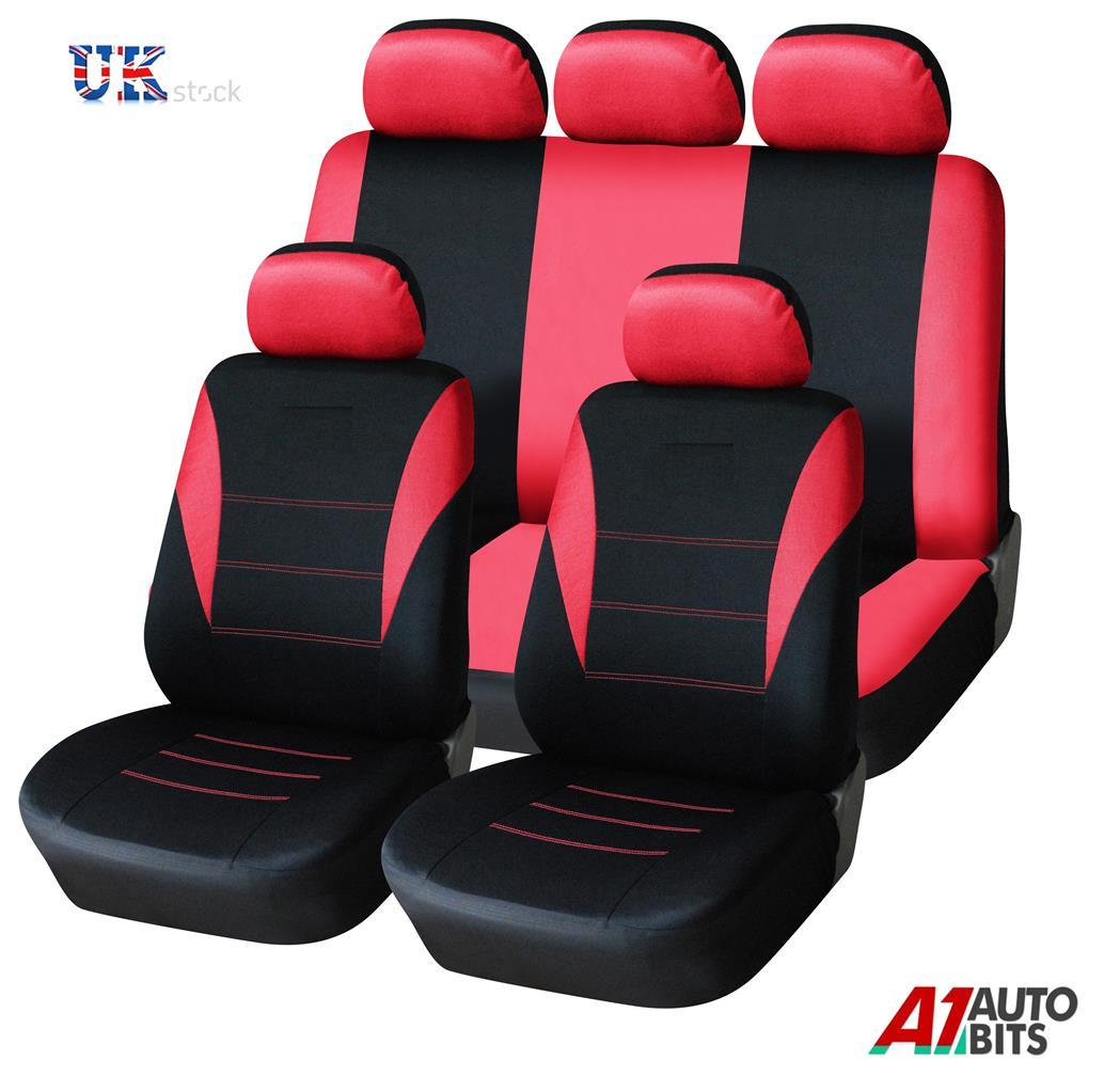 red car seat covers protectors universal washable dog pet full set front rear ebay. Black Bedroom Furniture Sets. Home Design Ideas