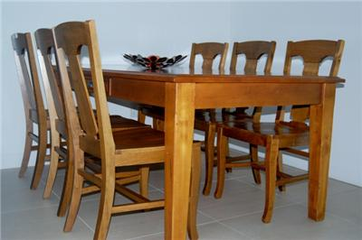 Solid Wood Dining on Pottery Barn Solid Wood 7 Pieces Dining Set With Matching Coffee Table