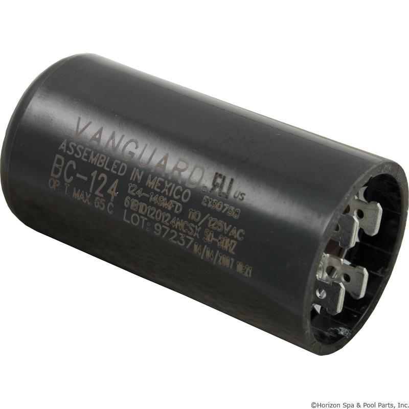 Pool spa motor pump start capacitor 125vac 1 7 16 x 2 3 4 for Pool pump motor capacitor replacement