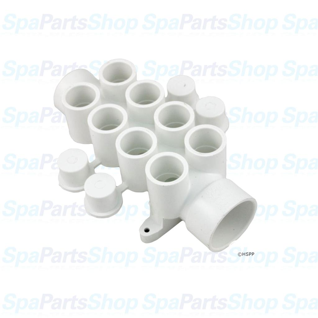 Spa hot tub pvc plumbing manifold quot port