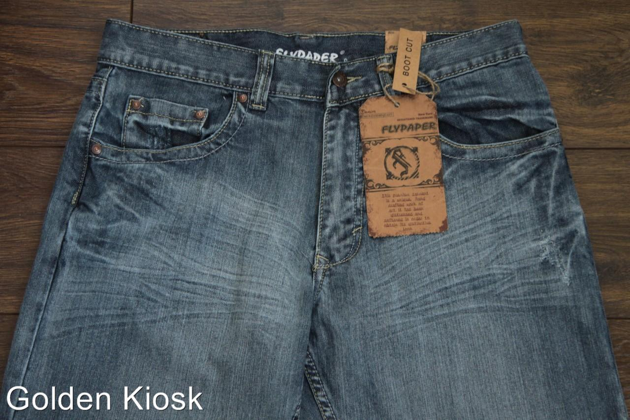 New-with-tags-men-039-s-FLYPAPER-Bootcut-Denim-Jeans-Light-Blues-for-men