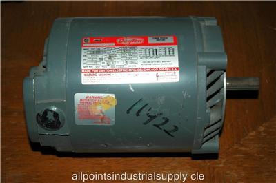 Dayton capacitor start motor 6k438k 1 4 hp 115 230 v 1725 for Dayton capacitor start motor