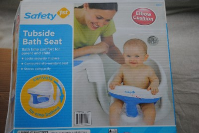 safety 1st tubside baby bath tub seat ring infant white ebay. Black Bedroom Furniture Sets. Home Design Ideas