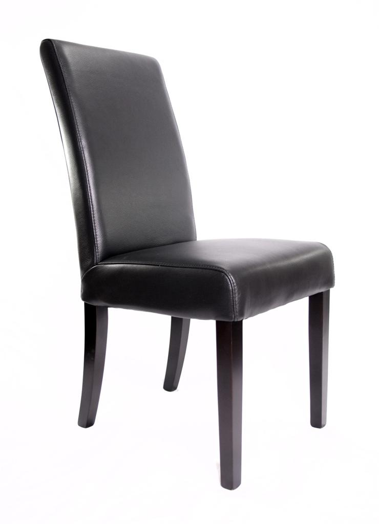 new chloe 100 cow hide top grain black genuine leather dining chairs x