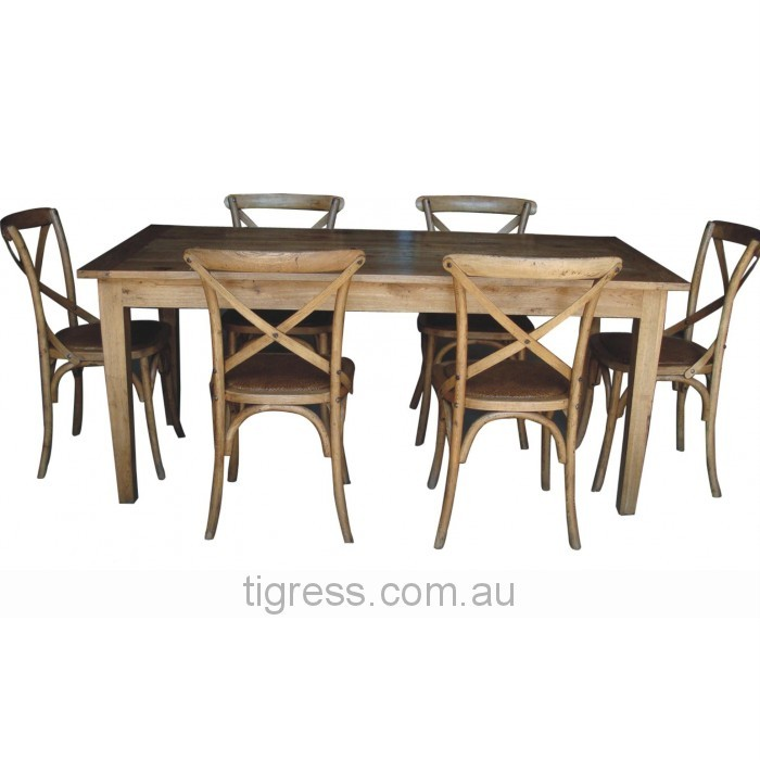 Solid-Natural-Oak-Rustic-Timber-Table-6-Crossback-Chair-Dining-Setting-Package
