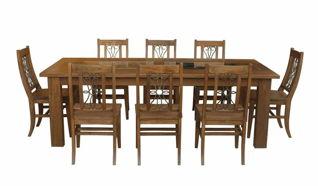 Solid Timber Tuscany Grande European Style Table Chairs 9 Piece Dining Set Ebay