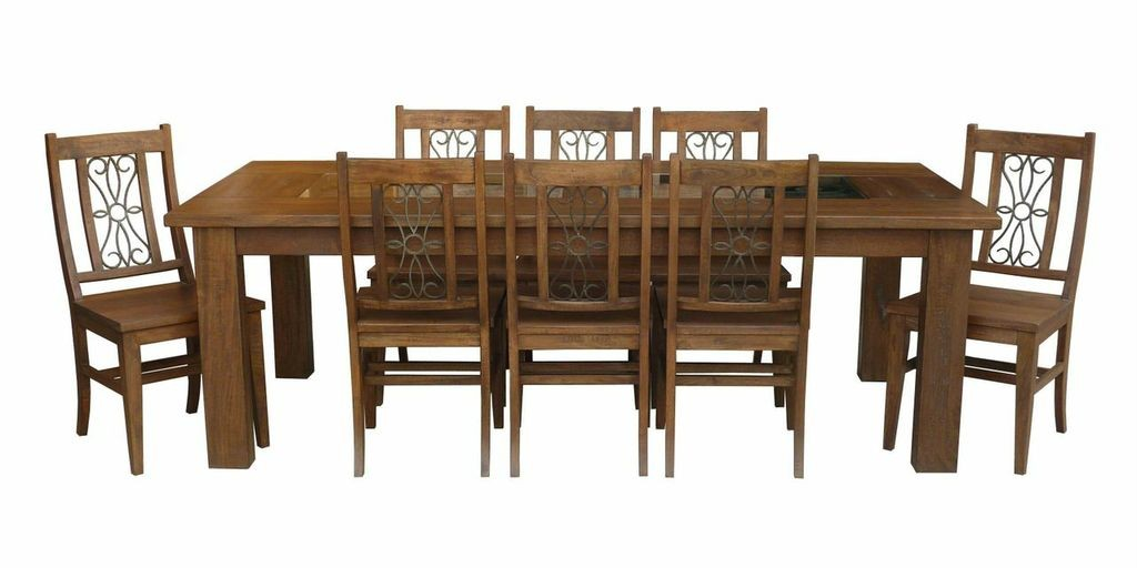 Solid timber tuscany grande european style large table 11 for 11 piece dining table