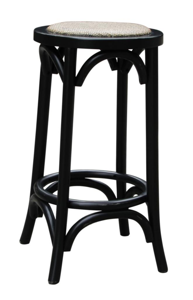 New noosa oak wooden french bistro country style black kitchen chair bar stool ebay - French bistro barstools ...