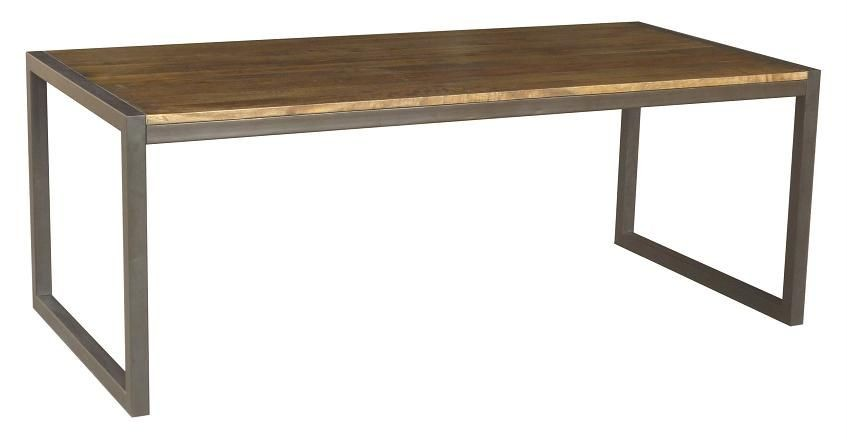 Solid Hardwood Timber 210cm X 100cm Contemporary Rustic Dining Table