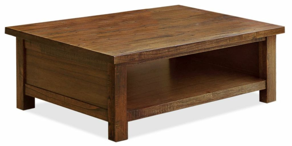 NEW-Hayman-Solid-Mountain-Ash-Hardwood-Country-Classic-Coffee-Table-with-Shelf