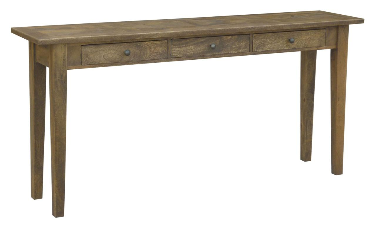 Distressed Foyer Console Table : New quot belle parquetry elegant rustic distressed antique
