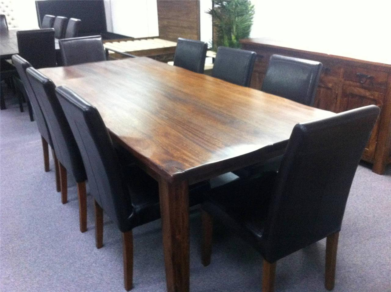 NEW-Bayview-Solid-Hardwood-Timber-Table-8-Chairs-9-Piece-Dining-Set-Package