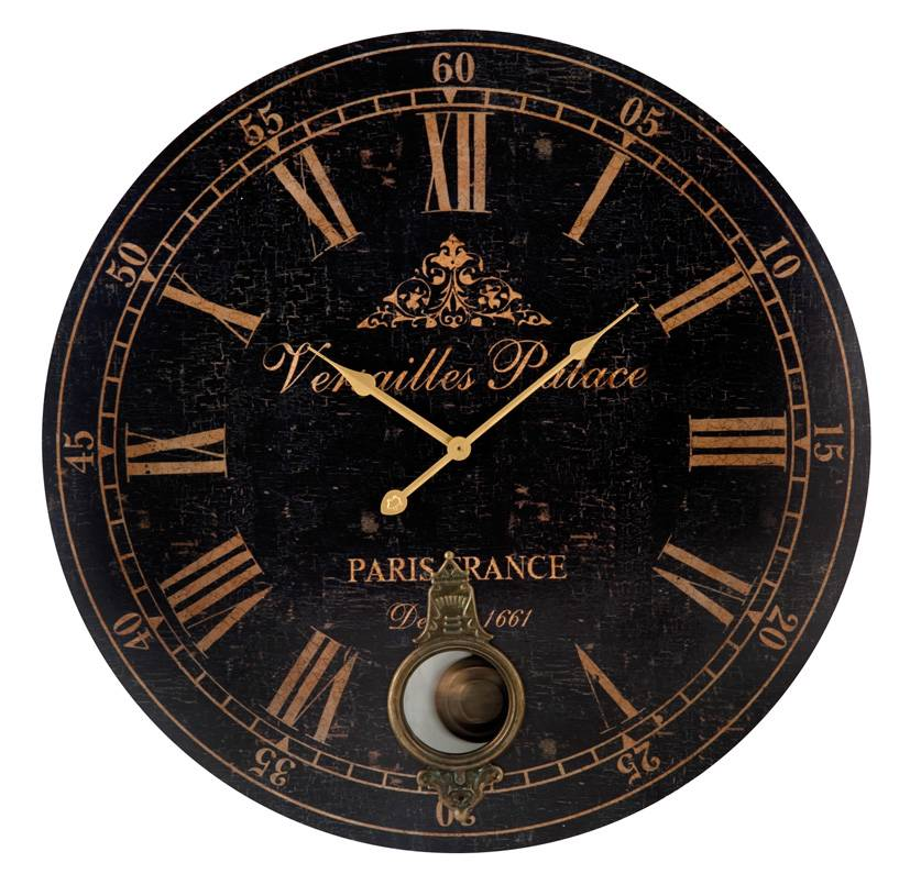 NEW-Versailles-Paris-Pendulum-Wall-Clock-58cm