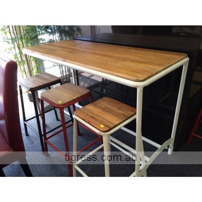 NEW Industrial Metal Timber Breakfast Bar TABLE ONLY eBay : 747866974o from www.ebay.com.au size 700 x 700 jpeg 59kB