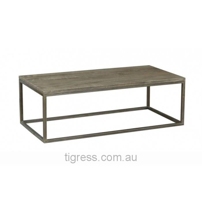 NEW-Manhattan-Solid-Hardwood-Metal-Coffee-Table-120cm-Natural-Distress