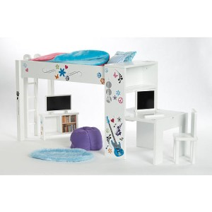 american journey 18 inch doll bedroom bed set