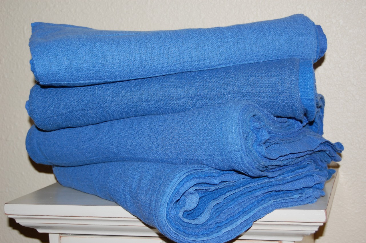 Blue-Surgical-Towels-Reclaimed-Shop-Mechanic-Janitorial-Window-Rags-Wipers