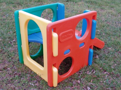 Little tikes tykes cube climber slide playground child for Little tikes outdoor playset