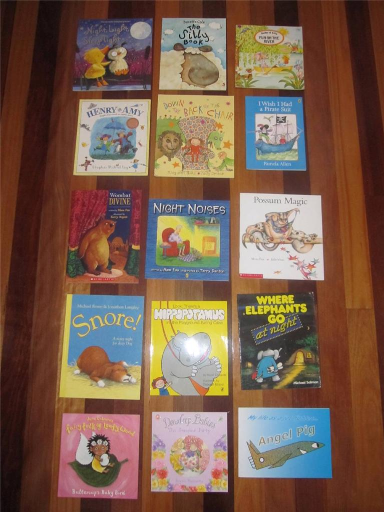 Bulk-lot-15-of-Childrens-books-kids-favourites-includes-Mem-Fox-Pam-Allen