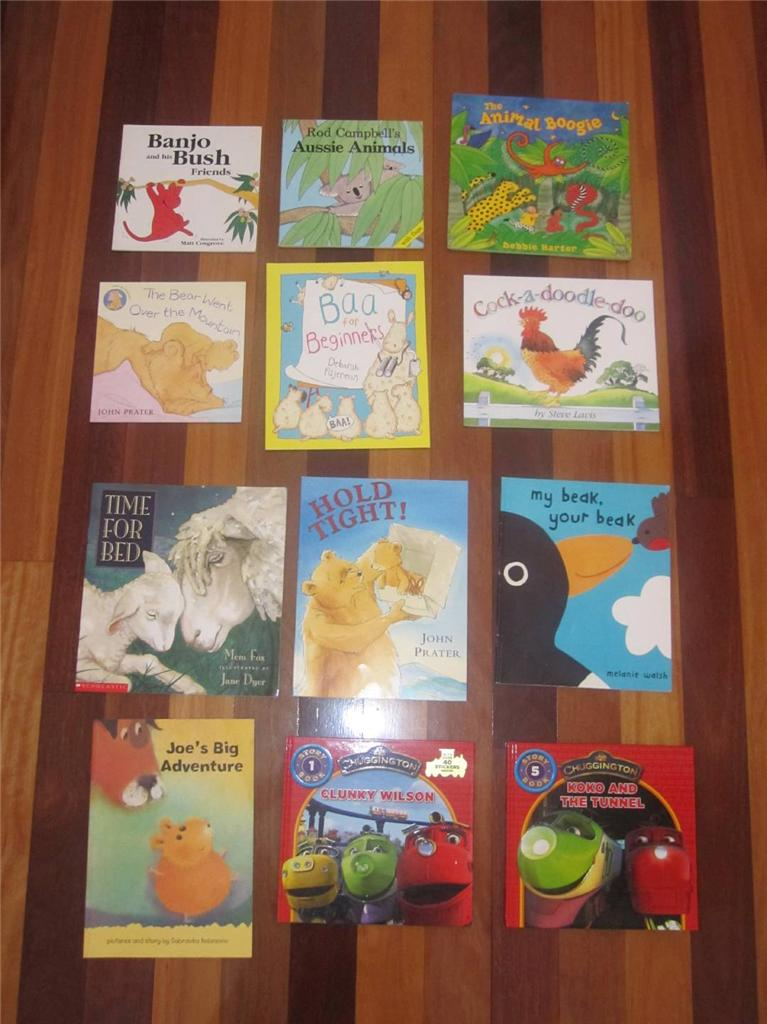 Bulk-lot-12-of-Childrens-books-favourites-includes-Mem-Fox-Chuggington