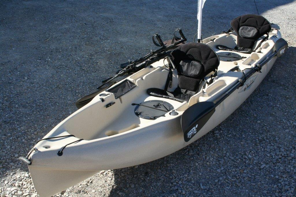 Hobie Outfitter Fish Mirage Pedal Tandem Kayak With Sail