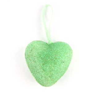 36 GREEN love heart Valentines Day ornament decoration