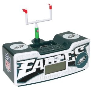 NFL Philadelphia Eagles Dual Alarm Clock Radio/Ipod Dock NEW