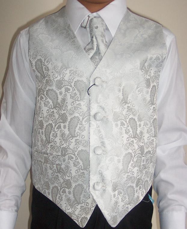 BNWT Boys 4 pc Waistcoat Wedding Party Prom Suit Bridegroom Page Boy Christening
