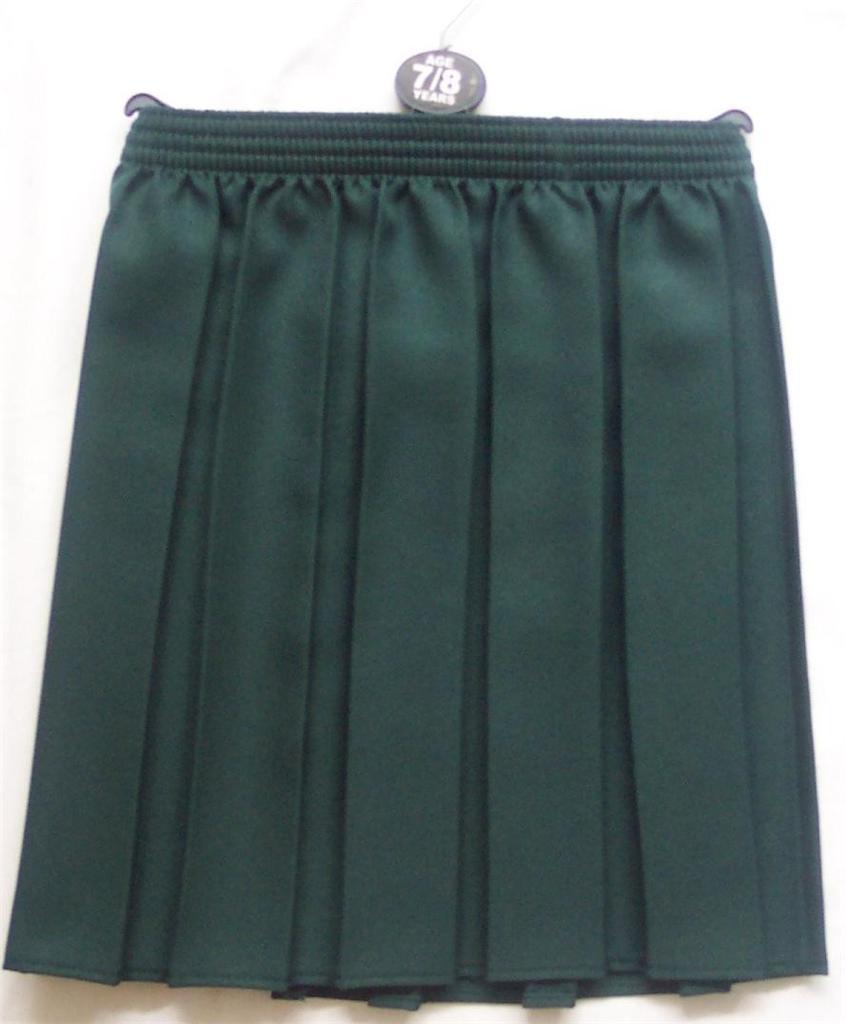 new box pleat elasticated skirt school 2