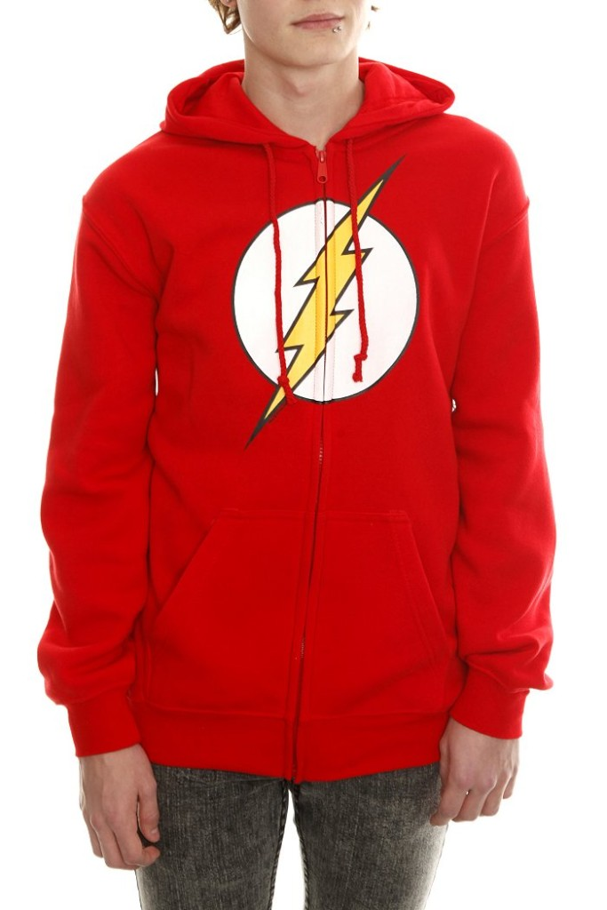 DC-Comics-The-Flash-Logo-Zip-Hoodie-XL-2X-Hooded-Sweatshirt-New-Big