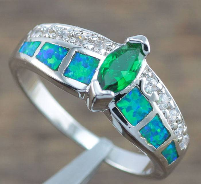 green opal emerald cz jewelry gemstone silver