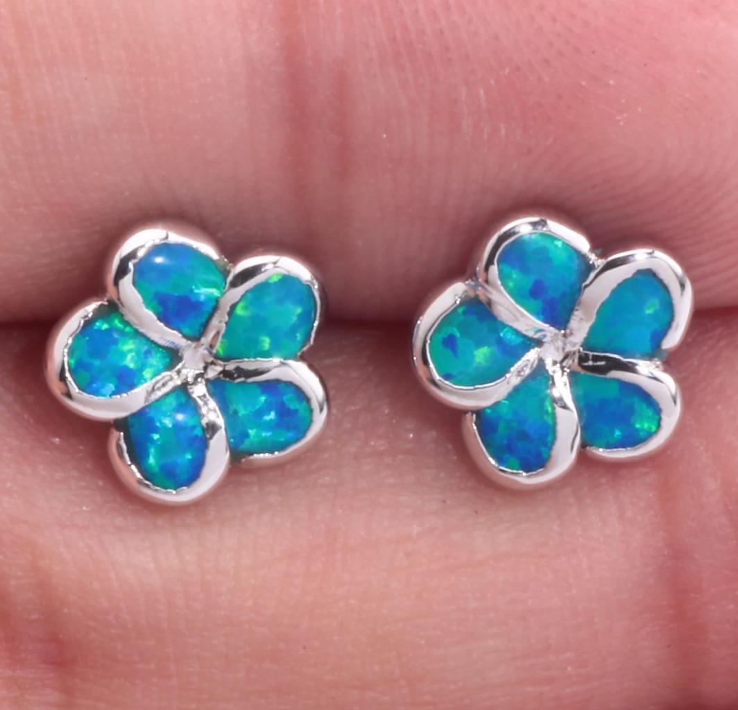 pink white blue fire opal women jewelry gems silver stud. Black Bedroom Furniture Sets. Home Design Ideas