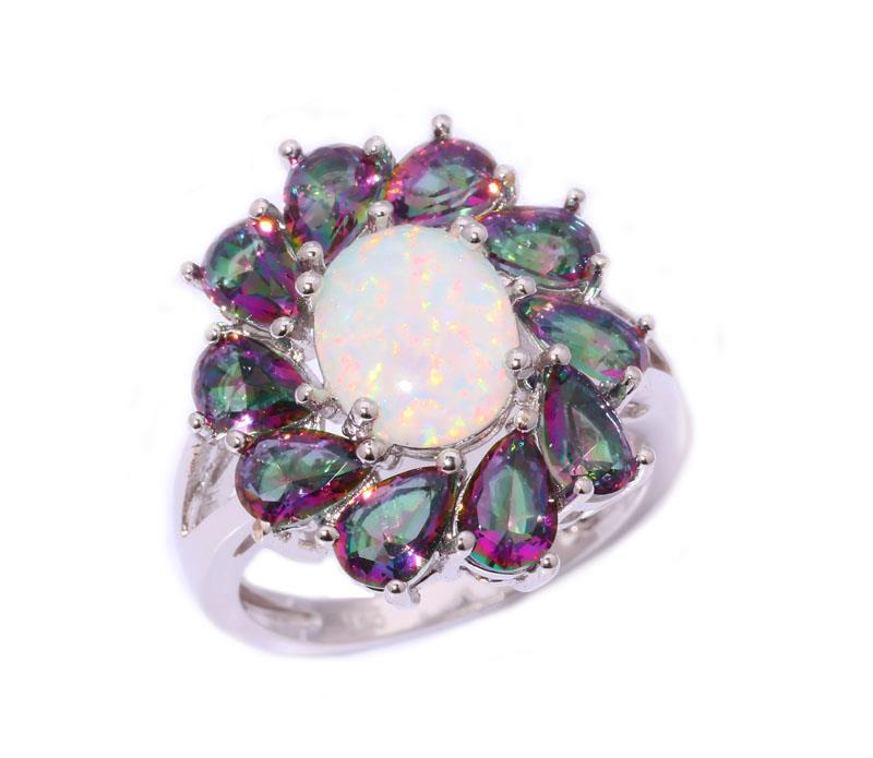white opal rainbow topaz jewelry gemstone